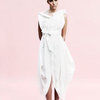 Shirt Dress: Black / White: Italian system: one-piece cut