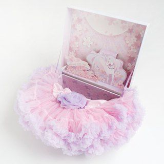 Good day baby girl baby pettiskirt gift set - dreamy unicorn gift box multi-color optional