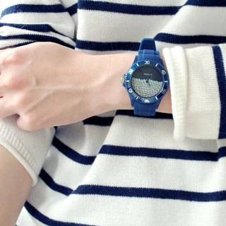 【PICONO】Block Playground Sport Watch - Blue / BA-BP-01