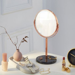 Natural marble sided mirror / desk mirror / mirror