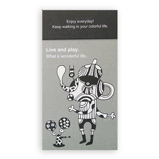 Portable note paper (gray) Live and play.