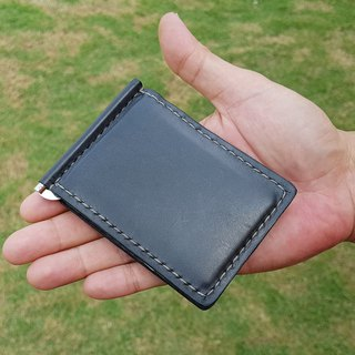 GENUINE LEATHER HAND STITCHED MONEY CLIP WALLET / LEATHER MEN'S WALLET