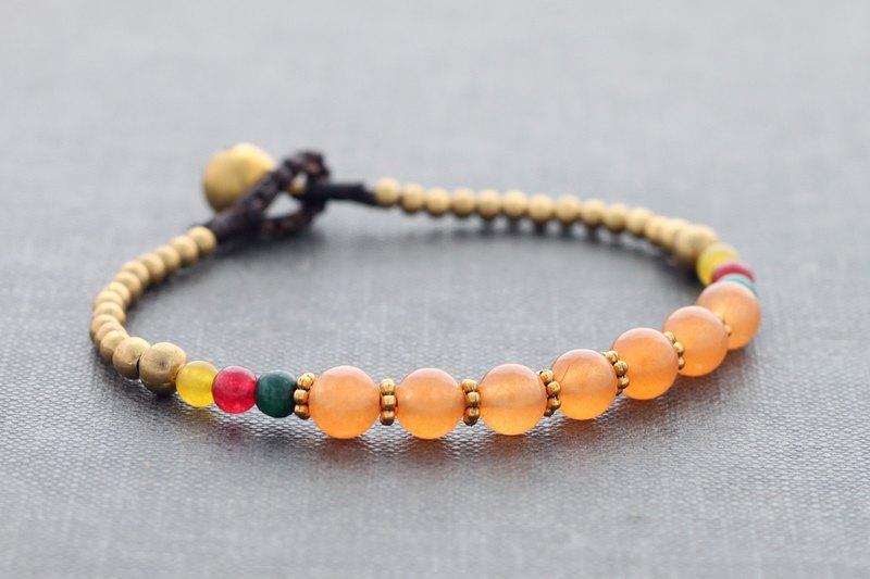 桃嬌小東方手鐲串珠編織復古風格