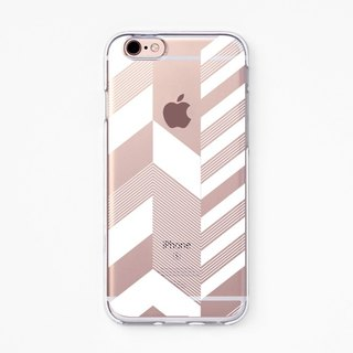 iPhone Case - Chevron Stripe - for iPhones - Clear Flexible