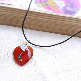 Limited Amount LOVE Starry Sky handmade gemstone necklace