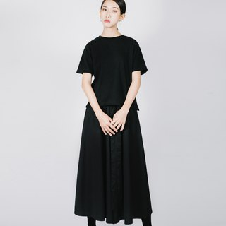 Wide bandage shape wide pants skirt
