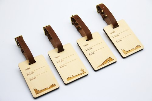 Canadian beech wood high quality luggage tag Lei carving personal information name / phone / mail increase 150 yuan subscript