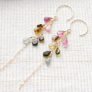 Suzubarin tourmaline drop earrings 14 kgf