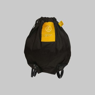 grion waterproof bag - back section (S) black yellow logo