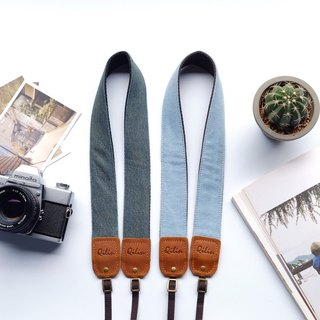 Deep Blue & Light Blue Denim Camera Strap