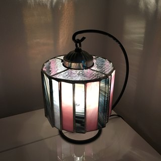 Night lamp  Dramatic Night Glass Pink &  Brack