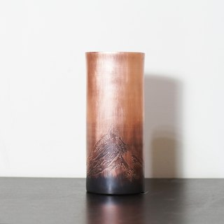 Stationery Series Copper Pen/Flower Holder - Mountain