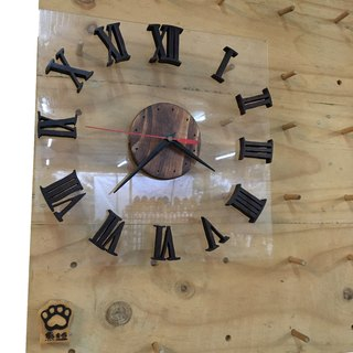 [Bear Ken Woodworking Workshop]//Customized// Wall Clock