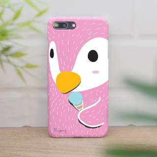 pink penguin ice cream iphone case สำหรับ iphone 6 plus, 7, 8, iphone xs ,xs max