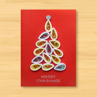 Handmade Roll Paper Card _ Christmas Tree O... Christmas Card, Christmas