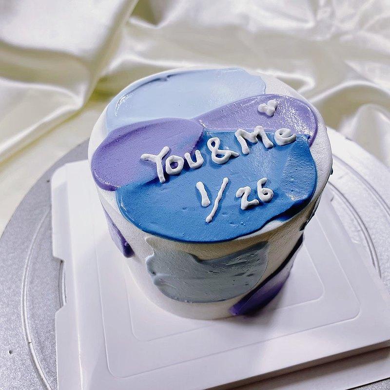調色盤 生日蛋糕  客製蛋糕  4 6 8吋 限台南面交