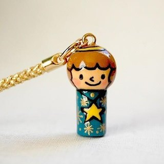 * Mini Kokeshi * strap * angel-chan