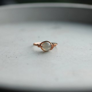 7mm labradorite original copper ring ring ring simple crystal