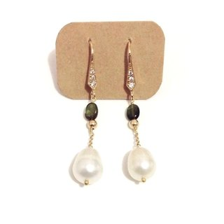 Elegant freshwater pearl earrings