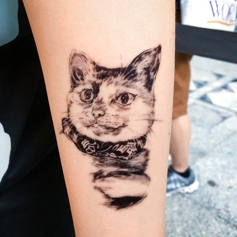Man僧x小豆丁花園 香港流浪貓救援 唐貓街貓浪浪動物刺青紋身貼紙