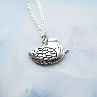 Crown chick Silver Necklace