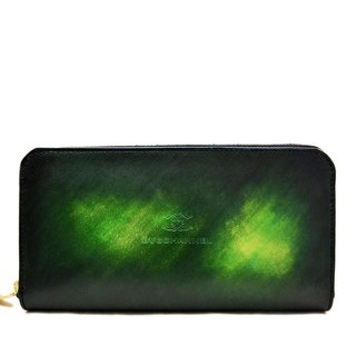 ACROMO Green Zip Around Wallet