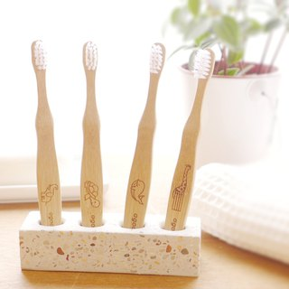 [Good day agooday] Environmentally friendly bamboo toothbrush - children's bamboo toothbrush (renewable environmentally friendly nylon) 1 into
