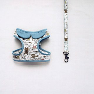 Can be customized. Cat loves playing texture gray-green walk combination 1 <breast strap leash>
