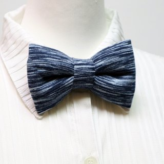 Horizontal stripe handmade solid bow tie bow tie*SK*