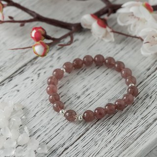 The goodness is full. Strawberry crystal 8mm bracelet.