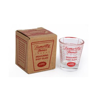 British Temerity Jones red retro glass small measuring cup / a wine glass Shot glass