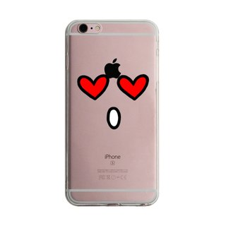 Custom heart eye face transparent Samsung S5 S6 S7 note4 note5 iPhone 5 5s 6 6s 6 plus 7 7 plus ASUS HTC m9 Sony LG g4 g5 v10 phone shell mobile phone sets phone shell phonecase