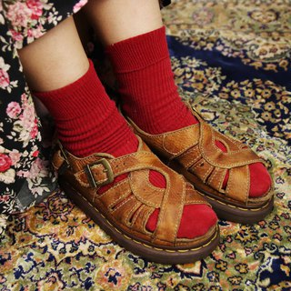 Tsubasa.Y Antique House A05 Brown Twist Martin Sandals, Dr.Martens