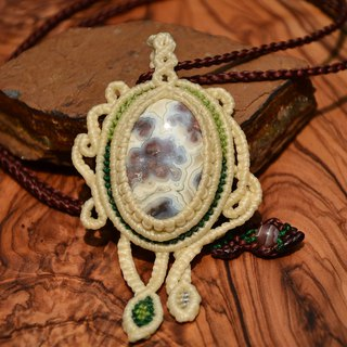 Crazy Lace Agate Macrame Necklace