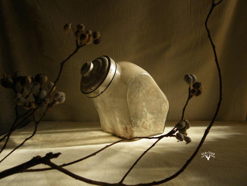 【老時光 OLD-TIME】早期玻璃兔罐玻璃糖果罐