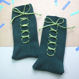 XX Socks / green paper money tying Socks / temperament dark green / customized orders