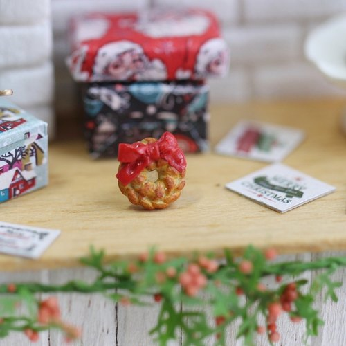 Pocket Christmas Dessert Earrings - Miniature Christmas Dessert Earring