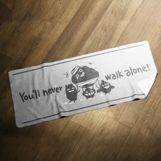 You'll Never Walk Alone Grey Sports Towel