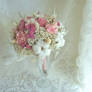 Masako Winter Snow Bridal Bouquet Dry Bouquet Eternal Flower 12/10~Send