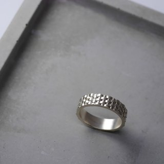 Sterling silver bamboo ring 925 pattern style ring
