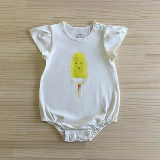 gujui eat ice _ organic cotton bag fart clothing / jumpsuit / pants _ Beige Bubble