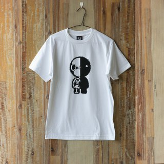 LU Skull design Hand screen print T-shirt (CIRCLE) ( S M L )