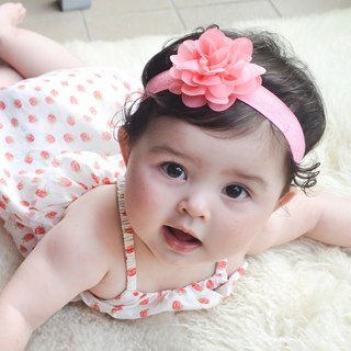 The United States Joli Sophie hair band 3 into - coral flowers flowers white yellow bow JSHB3CWY0