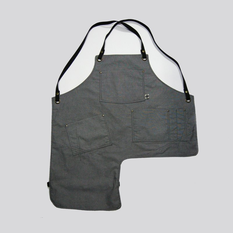 Notched cross band apron (canvas) __made as zuo zuo hand apron