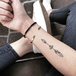 Arrow Through Diamond Temporary Tattoo