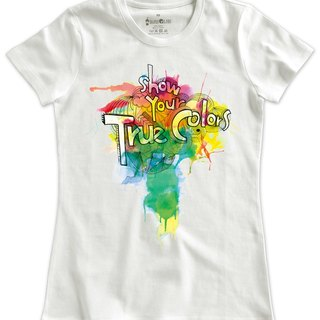Classic white short-sleeved T-shirt _Show your true color (Female M out of stock)