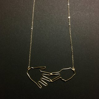 Wire Necklace <Rock-paper>
