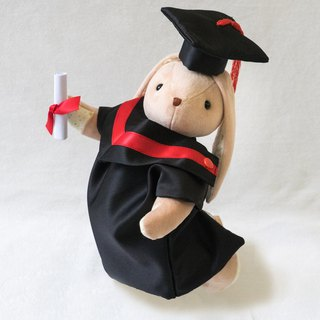 Graduation Rabbit 30cm Variety Straps Caps Ear Color Customized Cats & Good Men