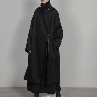 Futuristic Long Wool Coat