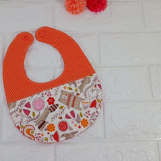 Strolling in the spring bib (powder orange)